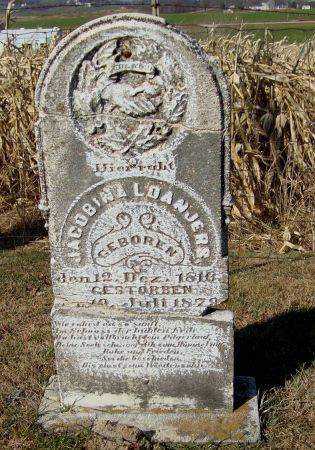 LOANJERS, JACOBINA - Dubuque County, Iowa   JACOBINA LOANJERS