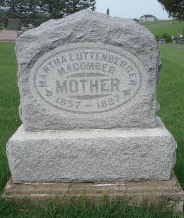 LUTTENBERGER MACOMBER, MARTHA - Dubuque County, Iowa   MARTHA LUTTENBERGER MACOMBER