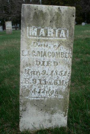 MACOMBER, MARIA - Dubuque County, Iowa | MARIA MACOMBER