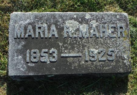MAHAR, MARIA R. - Dubuque County, Iowa   MARIA R. MAHAR