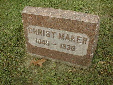 MAKER, CHRIST - Dubuque County, Iowa | CHRIST MAKER