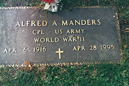 MANDERS, ALFRED A. - Dubuque County, Iowa | ALFRED A. MANDERS