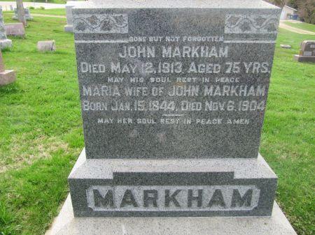 MARKHAM, MARIA - Dubuque County, Iowa   MARIA MARKHAM