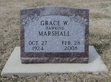 HAWKINS MARSHALL, GRACE W. - Dubuque County, Iowa | GRACE W. HAWKINS MARSHALL