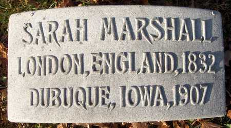 MARSHALL, SARAH - Dubuque County, Iowa   SARAH MARSHALL