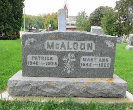 MC ALOON, MARY ANN - Dubuque County, Iowa | MARY ANN MC ALOON
