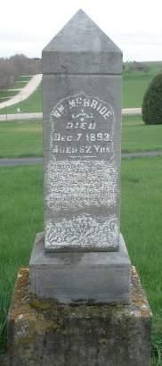 MCBRIDE, WILLIAM - Dubuque County, Iowa   WILLIAM MCBRIDE