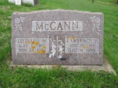 MC CANN, LAWRENCE P. - Dubuque County, Iowa | LAWRENCE P. MC CANN