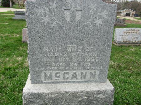 MC CANN, MARY - Dubuque County, Iowa   MARY MC CANN