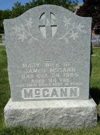 MCCANN, MARY - Dubuque County, Iowa | MARY MCCANN
