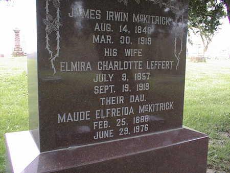 MCKITRICK, MAUDE ELFREIDA - Dubuque County, Iowa | MAUDE ELFREIDA MCKITRICK