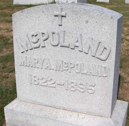 MCPOLAND, MARY A. - Dubuque County, Iowa   MARY A. MCPOLAND