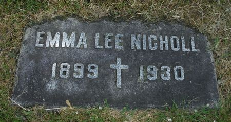 LEE NICHOLL, EMMA - Dubuque County, Iowa   EMMA LEE NICHOLL
