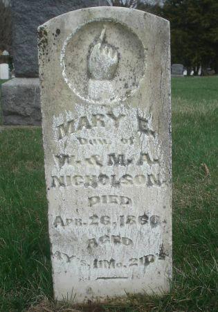 NICHOLSON, MARY E. - Dubuque County, Iowa | MARY E. NICHOLSON