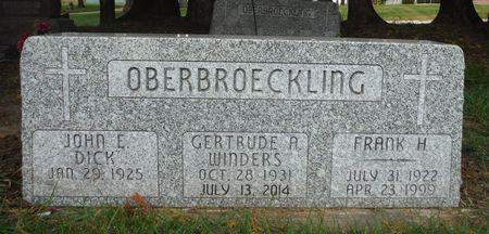 OBERBROECKLING, GERTRUDE A. - Dubuque County, Iowa | GERTRUDE A. OBERBROECKLING
