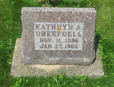 OBERFOELL, KATHRYN A. - Dubuque County, Iowa   KATHRYN A. OBERFOELL
