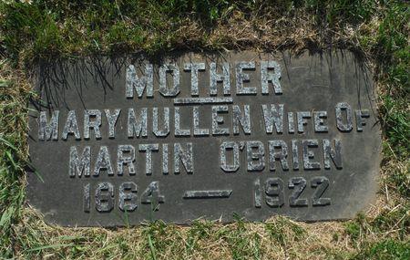 MULLEN O'BRIEN, MARY - Dubuque County, Iowa   MARY MULLEN O'BRIEN