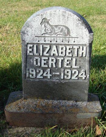 OERTEL, ELIZABETH - Dubuque County, Iowa   ELIZABETH OERTEL