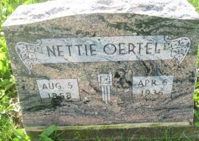 OERTEL, NETTIE - Dubuque County, Iowa | NETTIE OERTEL