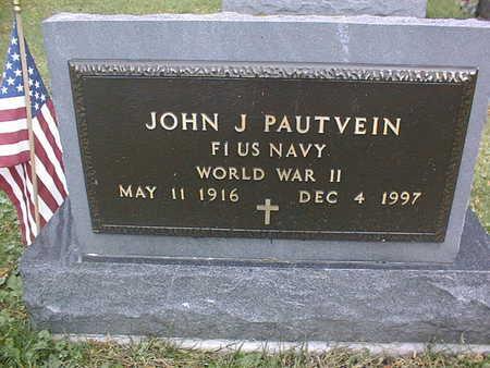 PAUTVEIN, JOHN J. - Dubuque County, Iowa   JOHN J. PAUTVEIN