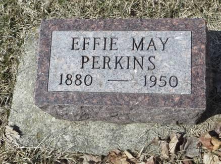 PERKINS, EFFIE MAY - Dubuque County, Iowa   EFFIE MAY PERKINS