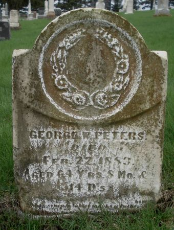 PETERS, GEORGE W. - Dubuque County, Iowa   GEORGE W. PETERS