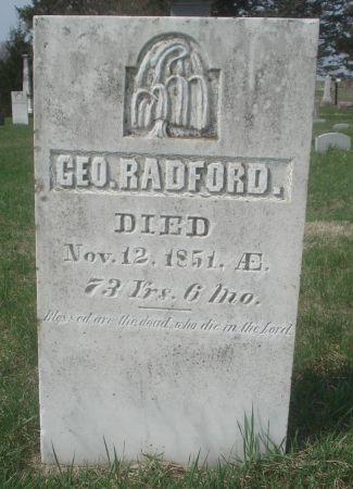 RADFORD., GEORGE - Dubuque County, Iowa   GEORGE RADFORD.