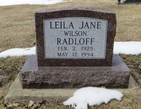 RADLOFF, LEILA JANE - Dubuque County, Iowa   LEILA JANE RADLOFF