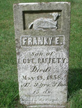RAFFETY, FRANKY E. - Dubuque County, Iowa   FRANKY E. RAFFETY