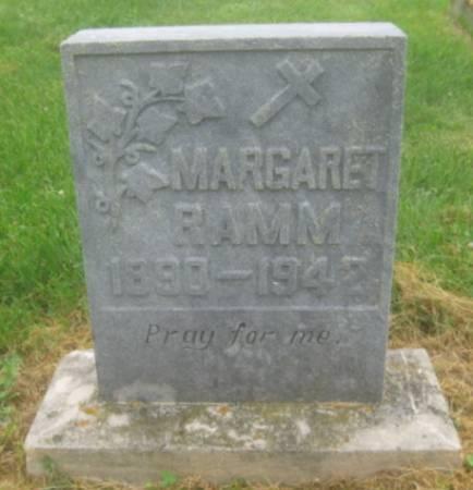 RAMM, MARGARET - Dubuque County, Iowa | MARGARET RAMM