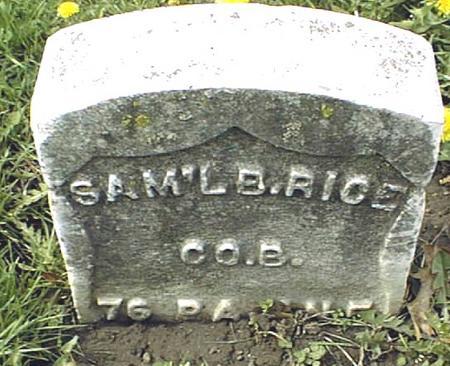 RICE, SAMUEL B. - Dubuque County, Iowa | SAMUEL B. RICE