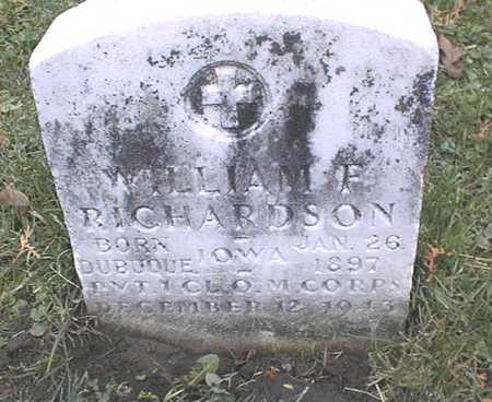 RICHARDSON, WILLIAM F. - Dubuque County, Iowa | WILLIAM F. RICHARDSON