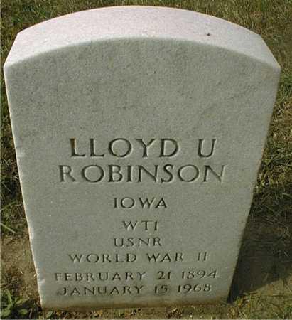 ROBINSON, LLOYD U. - Dubuque County, Iowa   LLOYD U. ROBINSON