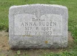SAUBER RUDEN, ANNA - Dubuque County, Iowa | ANNA SAUBER RUDEN