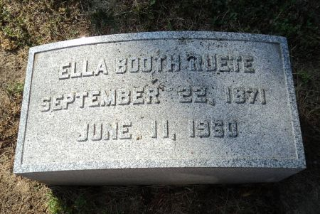 BOOTH RUETE, ELLA - Dubuque County, Iowa | ELLA BOOTH RUETE