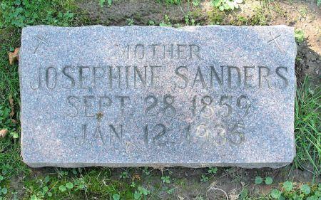 SANDERS, MARY FRANCIS JOSEPHINE - Dubuque County, Iowa | MARY FRANCIS JOSEPHINE SANDERS
