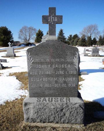 SAUSER, JOHN F. - Dubuque County, Iowa | JOHN F. SAUSER