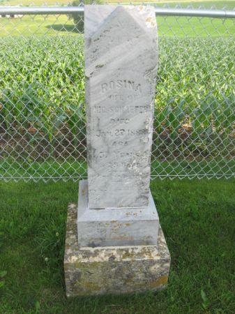 SCHAEFER, ROSINA - Dubuque County, Iowa   ROSINA SCHAEFER