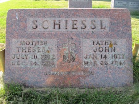 SCHIESSL, JOHN - Dubuque County, Iowa | JOHN SCHIESSL