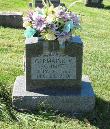 SCHMITT, GERMAINE V - Dubuque County, Iowa   GERMAINE V SCHMITT