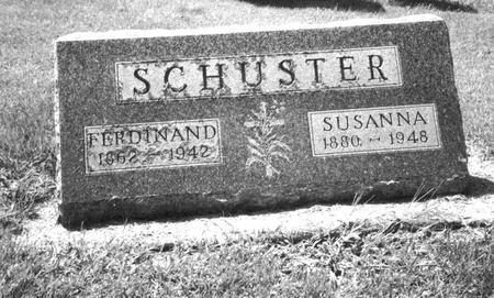 SCHUSTER, FERDINAND - Dubuque County, Iowa | FERDINAND SCHUSTER