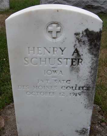 SCHUSTER, HENRY A. - Dubuque County, Iowa   HENRY A. SCHUSTER