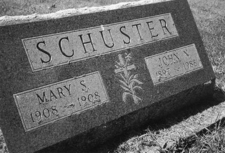 SCHUSTER, MARY - Dubuque County, Iowa   MARY SCHUSTER