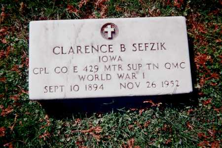 SEFZIK, CLARENCE B. - Dubuque County, Iowa | CLARENCE B. SEFZIK