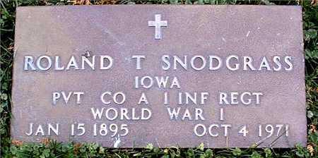 SNODGRASS, ROLAND T. - Dubuque County, Iowa | ROLAND T. SNODGRASS