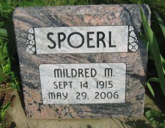 SPOERL, MILDRED M. - Dubuque County, Iowa   MILDRED M. SPOERL
