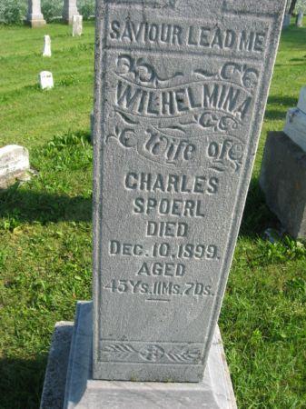 SPOERL, WILHELMINA - Dubuque County, Iowa   WILHELMINA SPOERL