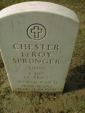 SPRUNGER, CHESTER LEROY - Dubuque County, Iowa | CHESTER LEROY SPRUNGER