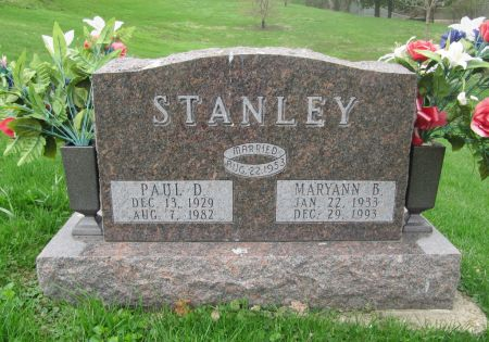 STANLEY, MARYANN B. - Dubuque County, Iowa   MARYANN B. STANLEY