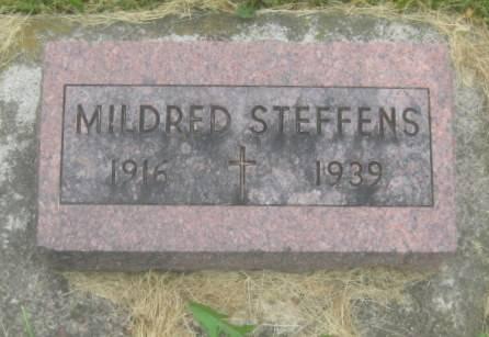 STEFFENS, MILDRED - Dubuque County, Iowa   MILDRED STEFFENS